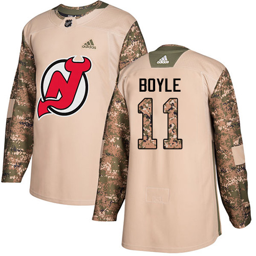 Adidas Devils #11 Brian Boyle Camo Authentic Veterans Day Stitched NHL Jersey