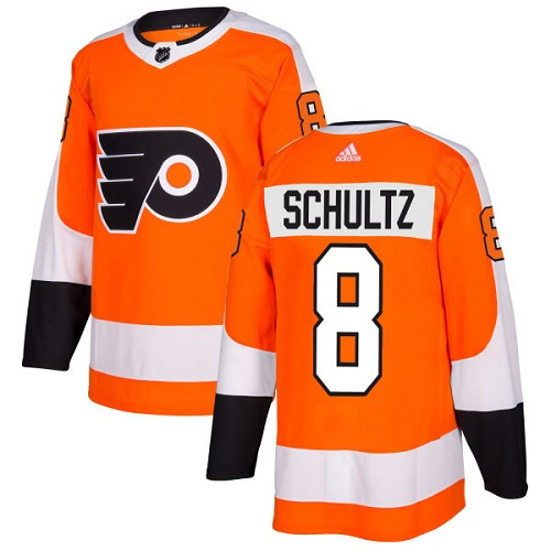 Adidas Flyers #8 Dave Schultz Orange Home Authentic Stitched NHL Jersey