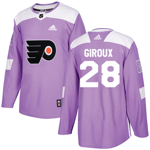 Adidas Flyers #28 Claude Giroux Purple Authentic Fights Cancer Stitched NHL Jersey