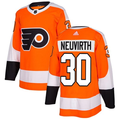 Adidas Flyers #30 Michal Neuvirth Orange Home Authentic Stitched NHL Jersey