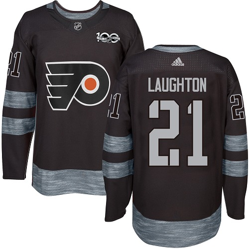 Adidas Flyers #21 Scott Laughton Black 1917-100th Anniversary Stitched NHL Jersey