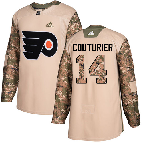 Adidas Flyers #14 Sean Couturier Camo Authentic Veterans Day Stitched NHL Jersey