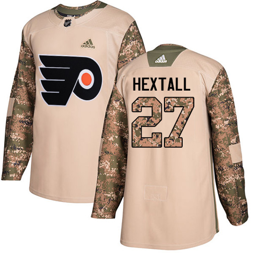 Adidas Flyers #27 Ron Hextall Camo Authentic Veterans Day Stitched NHL Jersey