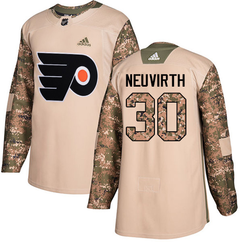 Adidas Flyers #30 Michal Neuvirth Camo Authentic Veterans Day Stitched NHL Jersey