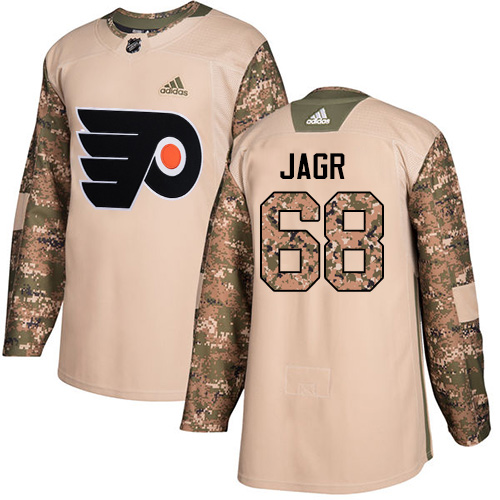 Adidas Flyers #68 Jaromir Jagr Camo Authentic Veterans Day Stitched NHL Jersey