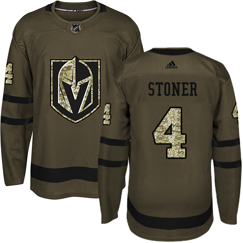 Adidas Golden Knights #4 Clayton Stoner Green Salute to Service Stitched NHL Jersey