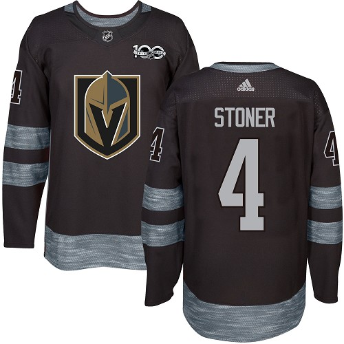 Adidas Golden Knights #4 Clayton Stoner Black 1917-100th Anniversary Stitched NHL Jersey