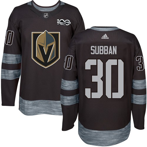 Adidas Golden Knights #30 Malcolm Subban Black 1917-100th Anniversary Stitched NHL Jersey