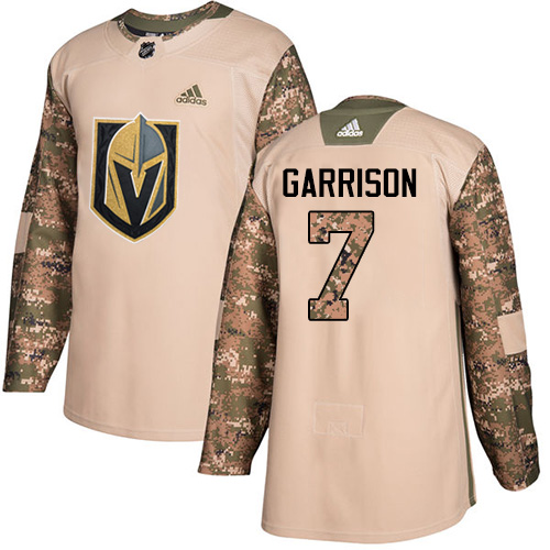 Adidas Golden Knights #7 Jason Garrison Camo Authentic Veterans Day Stitched NHL Jersey