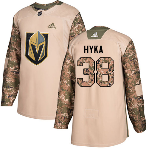 Adidas Golden Knights #38 Tomas Hyka Camo Authentic Veterans Day Stitched NHL Jersey