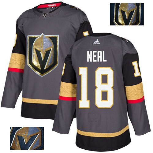 Adidas Golden Knights #18 James Neal Grey Home Authentic Fashion Gold Stitched NHL Jersey