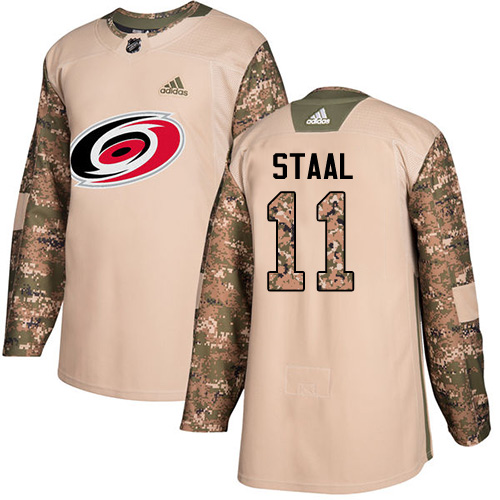 Adidas Hurricanes #11 Jordan Staal Camo Authentic Veterans Day Stitched NHL Jersey