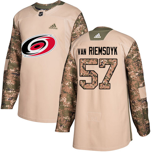 Adidas Hurricanes #57 Trevor Van Riemsdyk Camo Authentic Veterans Day Stitched NHL Jersey