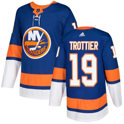 Adidas Islanders #19 Bryan Trottier Royal Blue Home Authentic Stitched NHL Jersey
