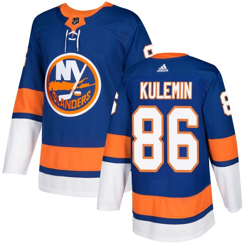 Adidas Islanders #86 Nikolay Kulemin Royal Blue Home Authentic Stitched NHL Jersey