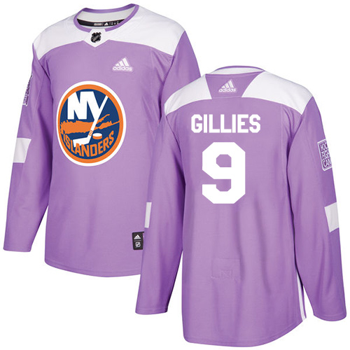 Adidas Islanders #9 Clark Gillies Purple Authentic Fights Cancer Stitched NHL Jersey