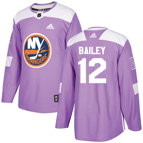 Adidas Islanders #12 Josh Bailey Purple Authentic Fights Cancer Stitched NHL Jersey