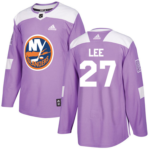 Adidas Islanders #27 Anders Lee Purple Authentic Fights Cancer Stitched NHL Jersey