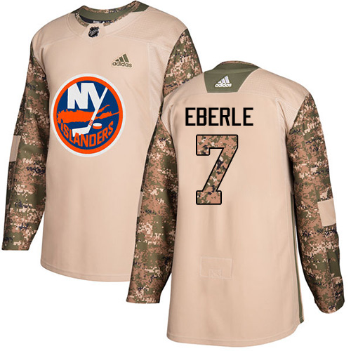 Adidas Islanders #7 Jordan Eberle Camo Authentic Veterans Day Stitched NHL Jersey