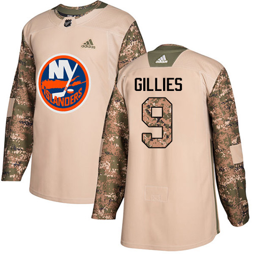 Adidas Islanders #9 Clark Gillies Camo Authentic Veterans Day Stitched NHL Jersey