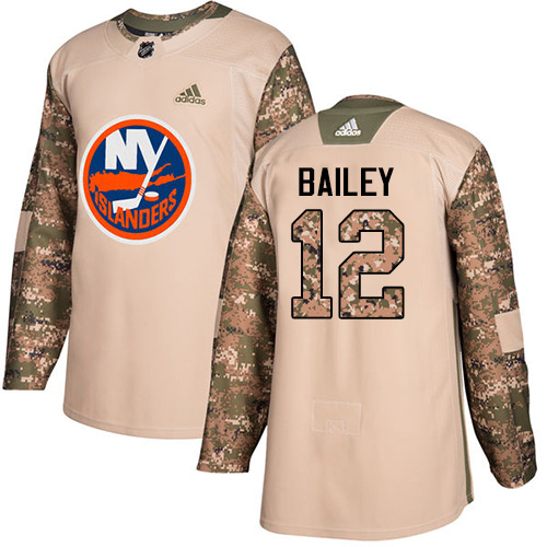 Adidas Islanders #12 Josh Bailey Camo Authentic Veterans Day Stitched NHL Jersey