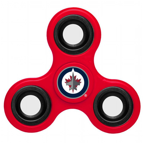 NHL Winnipeg Jets 3 Way Fidget Spinner A103 - Red