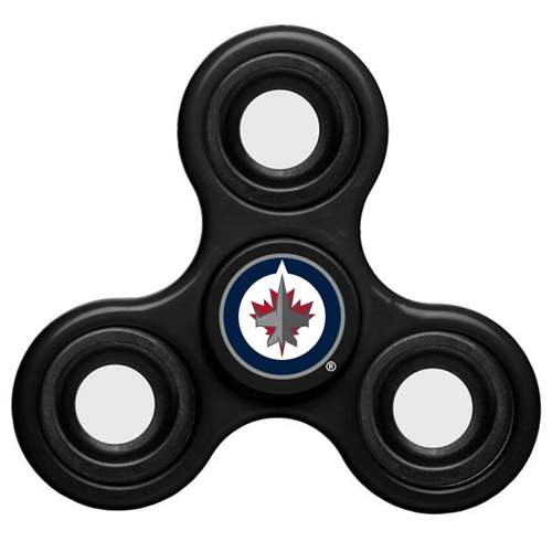 NHL Winnipeg Jets 3 Way Fidget Spinner C103 - Black