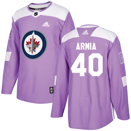 Adidas Jets #40 Joel Armia Purple Authentic Fights Cancer Stitched NHL Jersey