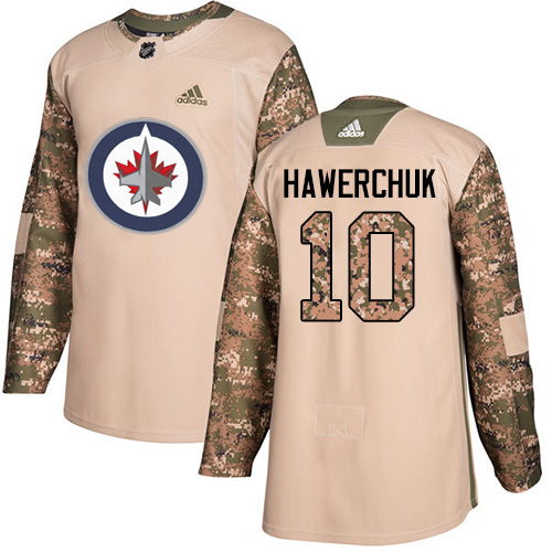 Adidas Jets #10 Dale Hawerchuk Camo Authentic Veterans Day Stitched NHL Jersey