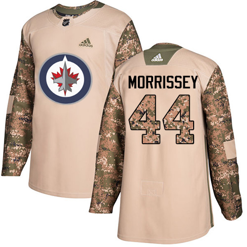 Adidas Jets #44 Josh Morrissey Camo Authentic Veterans Day Stitched NHL Jersey