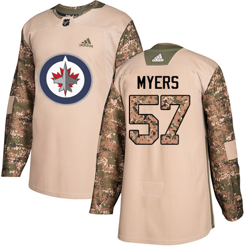 Adidas Jets #57 Tyler Myers Camo Authentic Veterans Day Stitched NHL Jersey