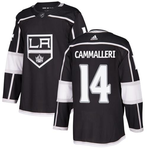 Adidas Kings #14 Mike Cammalleri Black Home Authentic Stitched NHL Jersey