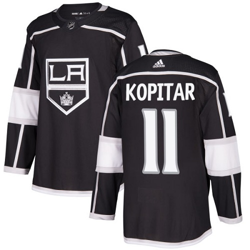 Adidas Kings #11 Anze Kopitar Black Home Authentic Stitched NHL Jersey