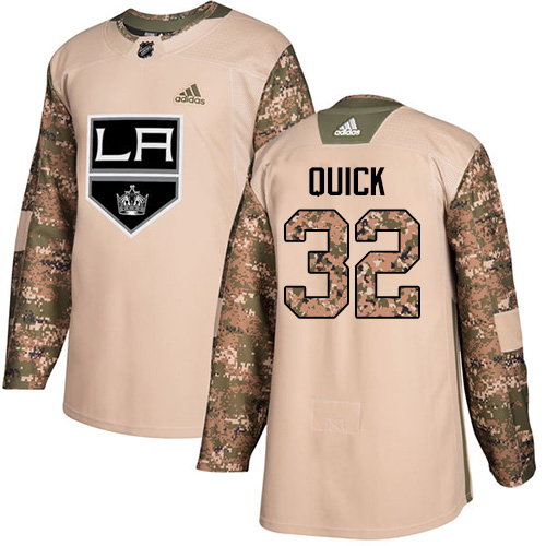 Adidas Kings #32 Jonathan Quick Camo Authentic Veterans Day Stitched NHL Jersey