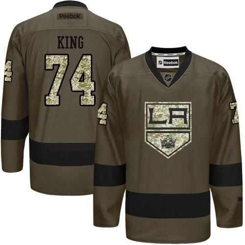 Kings #74 Dwight King Green Salute to Service Stitched NHL Jersey