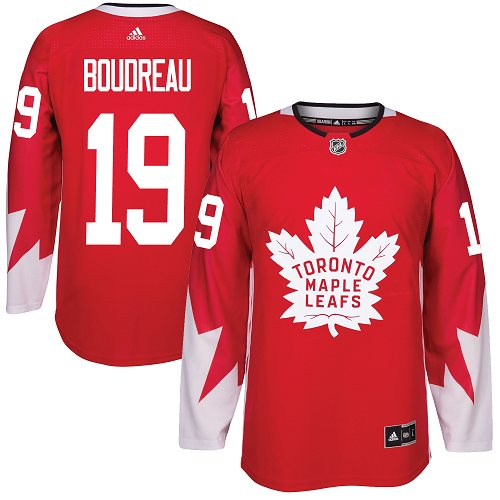 Adidas Maple Leafs #19 Bruce Boudreau Red Team Canada Authentic Stitched NHL Jersey