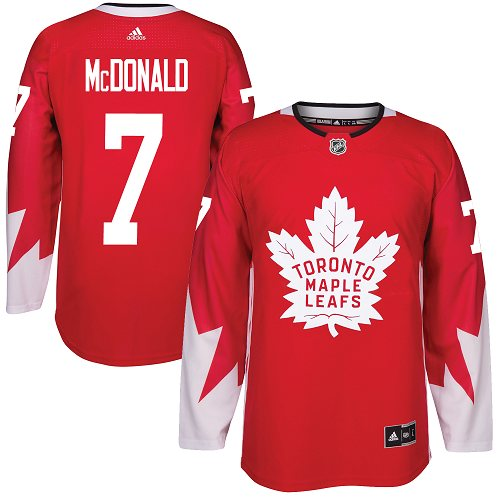 Adidas Maple Leafs #7 Lanny McDonald Red Team Canada Authentic Stitched NHL Jersey
