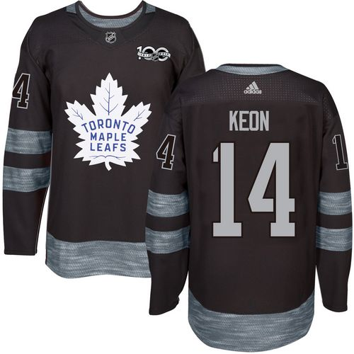 Adidas Maple Leafs #14 Dave Keon Black 1917-100th Anniversary Stitched NHL Jersey