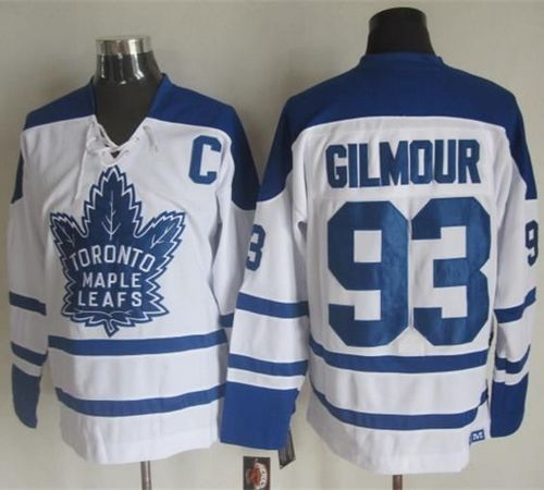 Maple Leafs #93 Doug Gilmour White CCM Throwback Winter Classic Stitched NHL Jersey