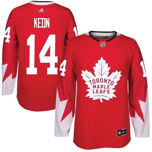 Adidas Maple Leafs #14 Dave Keon Red Team Canada Authentic Stitched NHL Jersey