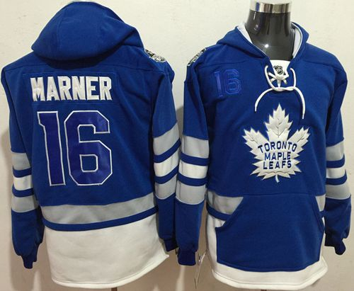 Maple Leafs #16 Mitchell Marner Blue Name & Number Pullover NHL Hoodie