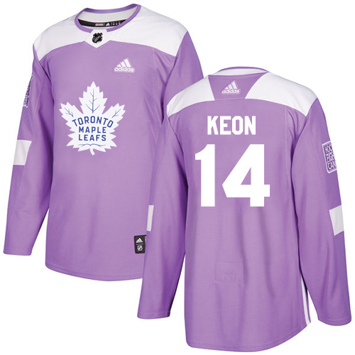 Adidas Maple Leafs #14 Dave Keon Purple Authentic Fights Cancer Stitched NHL Jersey