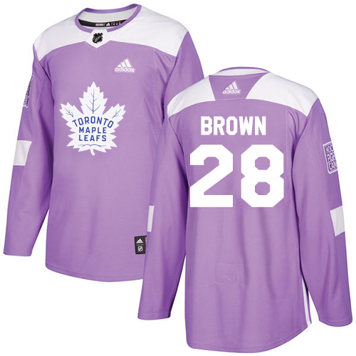 Adidas Maple Leafs #28 Connor Brown Purple Authentic Fights Cancer Stitched NHL Jersey