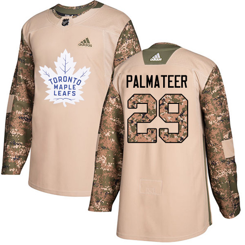 Adidas Maple Leafs #29 Mike Palmateer Camo Authentic Veterans Day Stitched NHL Jersey