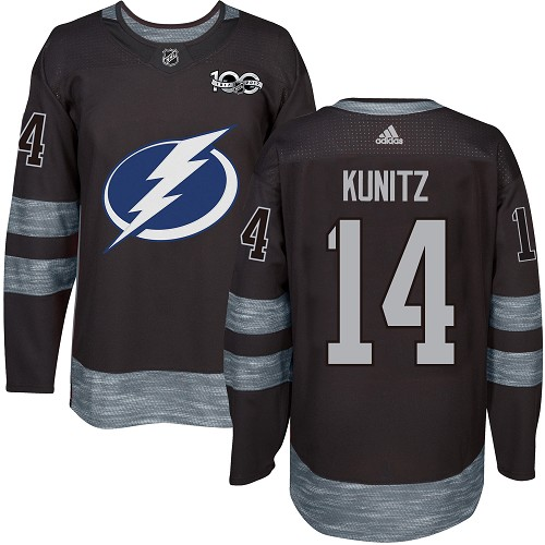 Adidas Lightning #14 Chris Kunitz Black 1917-100th Anniversary Stitched NHL Jersey