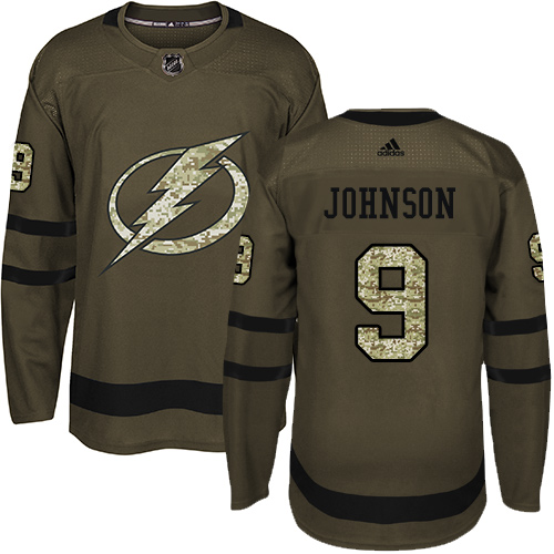 Adidas Lightning #9 Tyler Johnson Green Salute to Service Stitched NHL Jersey