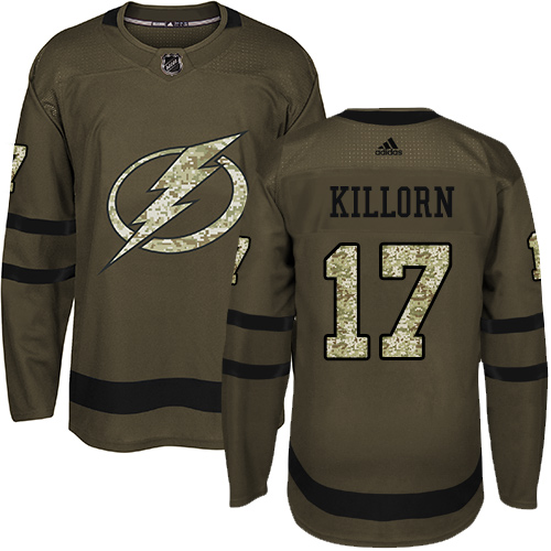 Adidas Lightning #17 Alex Killorn Green Salute to Service Stitched NHL Jersey