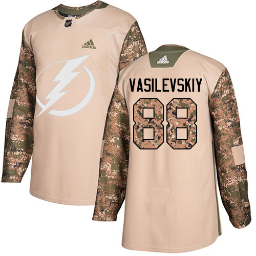 Adidas Lightning #88 Andrei Vasilevskiy Camo Authentic Veterans Day Stitched NHL Jersey
