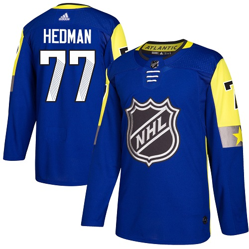 Adidas Lightning #77 Victor Hedman Royal 2018 All-Star Atlantic Division Authentic Stitched NHL Jersey