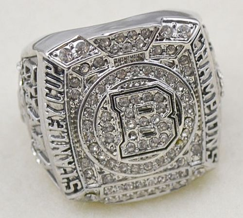 NHL Boston Bruins World Champions Silver Ring_2